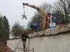 afwerken van de muur, 18 maart 2011, foto Pierre Detchevery