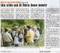 het feest van 22-08-2009 in de lokale pers